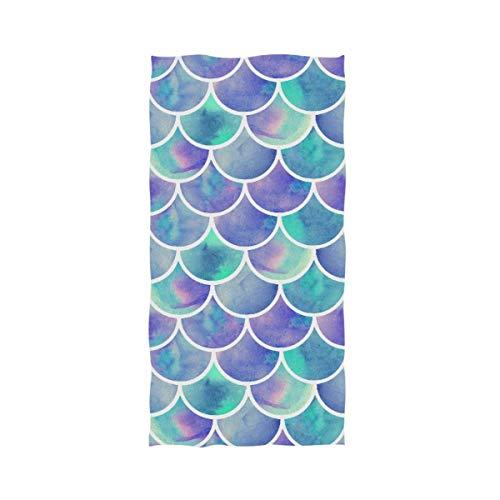 VLOOQ-HX Elegantes Acuarelas del Arco Iris Básculas de Sirena Absorbente Suave Toallas...
