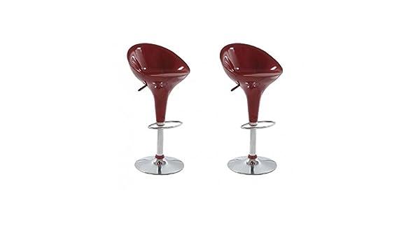 Sgabello torino xh rosso scuro coppia sgabelli design stool
