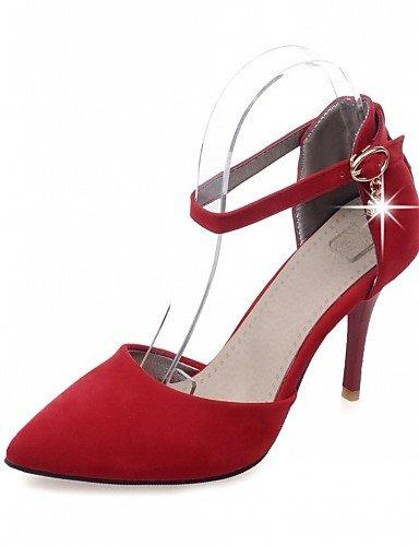 WSS 2016 Chaussures Femme-Bureau & Travail / Habillé / Décontracté-Noir / Rouge / Gris / Orange-Talon Aiguille-Talons-Talons-Similicuir gray-us6.5-7 / eu37 / uk4.5-5 / cn37
