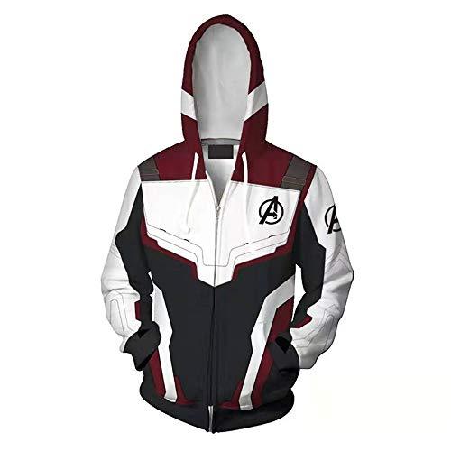 Unisex 3D Hoodie für Mädchen Jungen Kinder Coole Galaxy Animal Druck Kapuzenpullover Avengers 4 Quantum Battle Suit,M