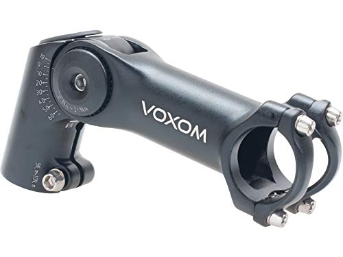Voxom Vorbau Vb3 schwarz, 31,8mm, 120mm höhenverstellbar, -10/+65, 31,8mm/120mm Länge