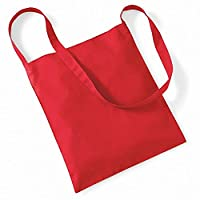 Westford Mill Sling Tote Bag - 8 Litres (One Size) (Bright Red)