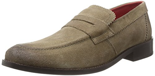 Base London  Balfour,  Mocassini uomo Beige Beige (Greasy Suede Beige) 44