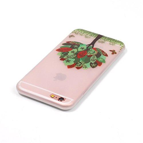 Felfy Silikon Case für iPhone 6 Hülle,iPhone 6S Luminous Cover Ultra Dünne Slim Silikon Etui Handy Hülle Weiche Transparente Luminous Gel TPU Back Case Leuchten In Der Nacht - Felfy Farbe Muster Schut Schmetterlinge