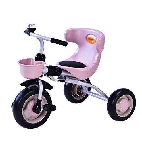 C-Xka Tricicli for 1-3 Anni di età, 3-Wheel Recreation Ride-On Bambino Pieghevole Triciclo con Bell Interna/Esterna, Nursing Schienale del Sedile (Color : Pink)