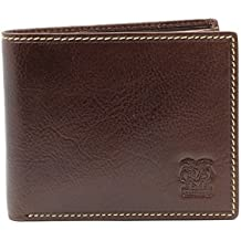 Billetera de CAPPIANO para Hombres de 2 Secciones, 11 Tarjetas de Credito y con Componente Central
