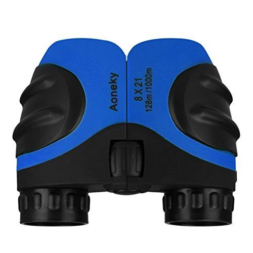 Aoneky Compact Mini Rubber 8 x 21 Kids Binoculars