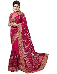 Shyora Designer Sarees Women's Net Heavy Embroidery Party Wear Sarees For Women Latest Design 2018 Mega Sale Offer...