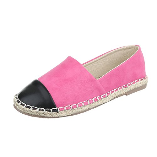 Slipper Damenschuhe Low-Top Blockabsatz Moderne Ital-Design Halbschuhe Pink