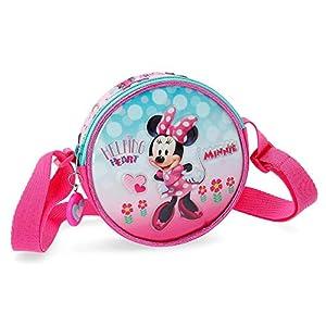Disney Bolsa de viaje 40cm Minnie Heart, Rosa