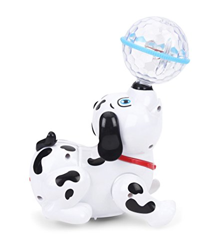 Flipzon Cute Dancing Dog Toy with Reflected 3D Lights & Wonderful Music for Kids, Battery operated, Multicolor