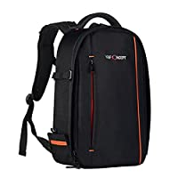 Camera Backpack, K&F Concept® 840D Waterproof Nylon DSLR Backpack Professional Camera Bag with Code Lock for Canon Nikon Sony Camera Accessories and Laptops Tablets Black Size(17.3*11*5.5