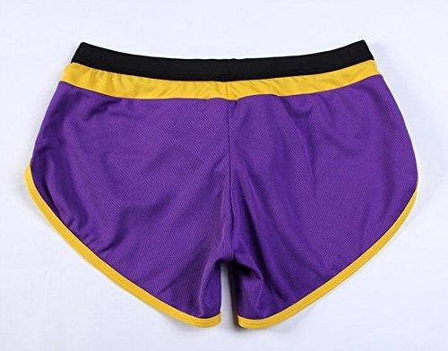 Demarkt Homme Sport Pantalon Court Short Culotte –Noir Bleu Rouge Blanc Jaune Violet Violet