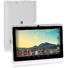 iRULU X1S - Tablet de 7 pulgadas, 1,3GHZ Quad-Core, 16 GB, Resolución HD de 1024x600, Google Android 4.4 , Certificado GMS de Google, Color Blanco