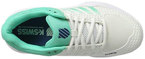 K-Swiss Performance Damen Express Light HB Tennisschuhe Weiß (WHITE/ELECTRIC Green/Blue Ribbon)
