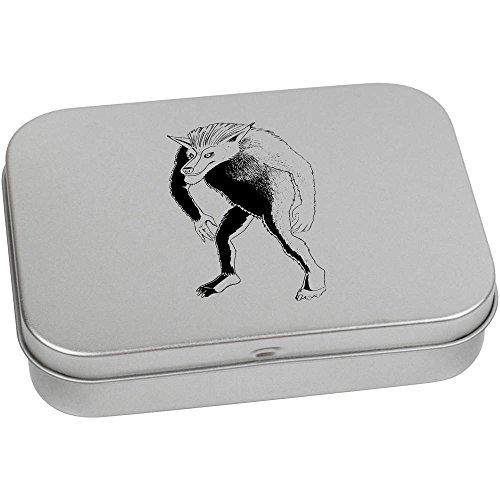 110 Tabletten (Azeeda 110mm x 80mm 'Werwolf' Blechdose / Aufbewahrungsbox (TT00020035))