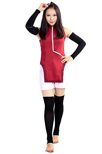 De-Cos Boruto: Naruto the Movie Cospaly Costume Uchiha Sarada Outfit Set (Kostüm Sarada Uchiha)