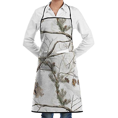 Cooking Apron White Camo Kitchen Long Aprons Women Men Bakery Sleeveless Overalls Portable Pocket Design