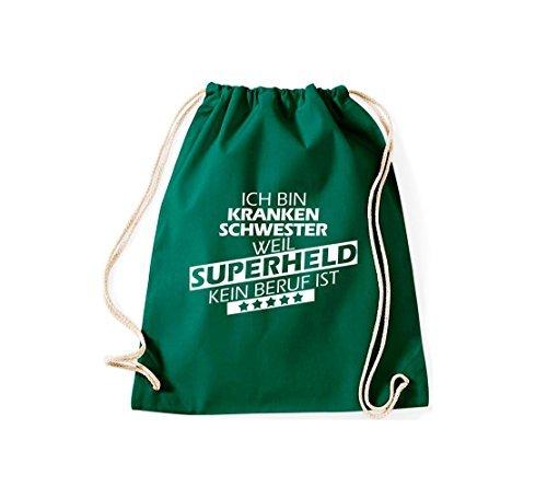 Shirtstown Sac de sport Ich bin Infirmière, parce que Superheld aucun Occupation est Gruen