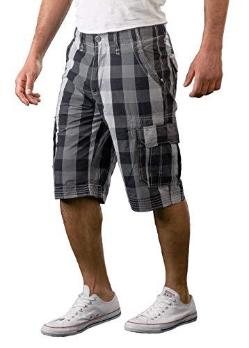 Gelverie Nagata Herren Cargo Shorts Hochwertige Japanische Baumwolle I Bermuda Kurze Sommer Hose | Charcoal Black | Gr. S - Cargo-hose Baumwolle-charcoal