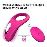 Massaggiatore Anelli Wireless per Uomo con 9 Modalità di Vibrazione, con Senza Fili Telecomando 15m, muto, IPX7 Impermeabile