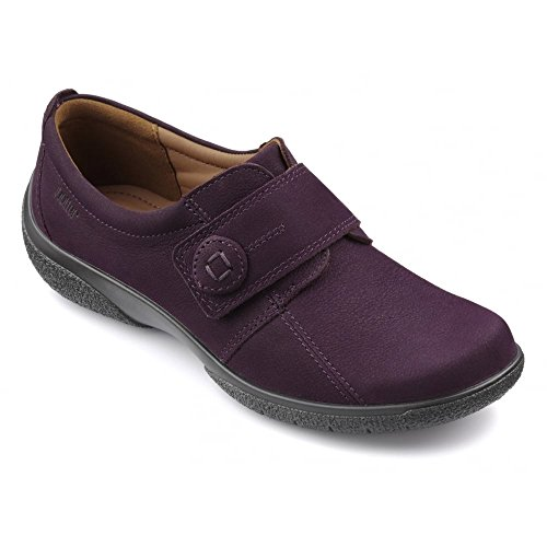 Hotter Sugar Ladies Easy Fitting Comfort Shoes 6 Plum