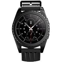 Kivors Smartwatch, Bluetooth 4.0, con monitor del ritmo cardiaco, promemoria per il movimento, monitor delle attività per fitness e sport, monitor del sonno, per Android e iOS