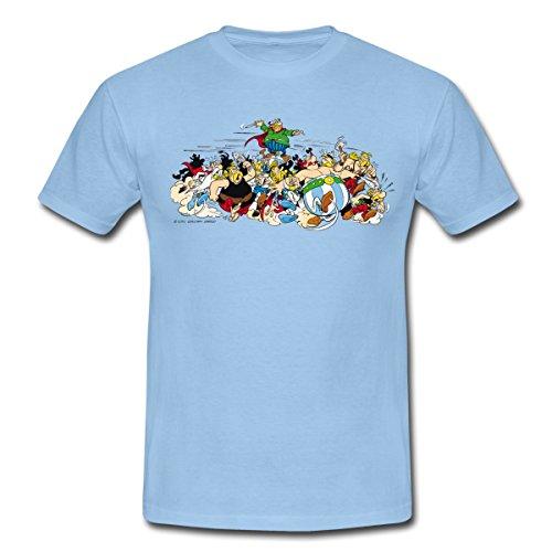 Spreadshirt Asterix & Obelix - Attacke Männer T-Shirt, XL, Sky