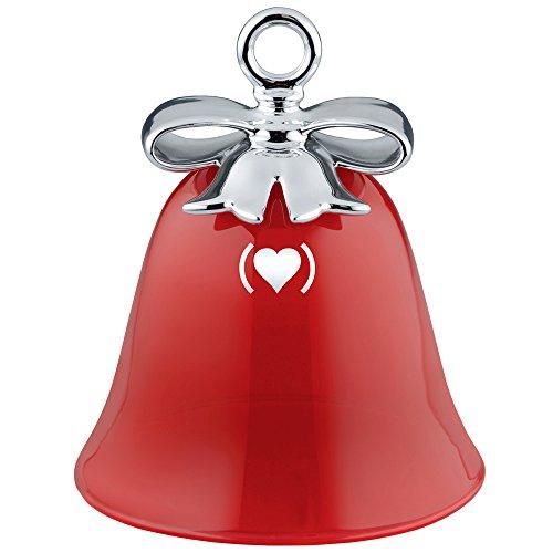 Alessi mw42 red dressed for x-mas decorazione per albero di natale in porcellana e vetro soffiato, (product) red special edition,rosso