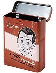 Zigarettenbox Retro Zigarettenetui Metall Zigarettendose Vintage für 20 Zigaretten von Alsino