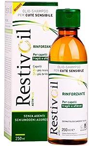 RestivOil Activplus Shampoo Rinforzante per Capelli, Olio Fisiologico con Azione Ricostituente e Riattivante,