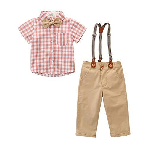 Julhold Kleinkind T-Shirt Outfit Kleidung Fliege Hemd + Hose Baumwolle Gut aussehend Herren Party Anzug Shorts 2019 Neu -