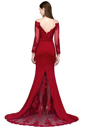 MisShow Damen schönes Etui Abendkleid Applique Perlstickerei Herz-Ausschnitt Abschlusskleid...