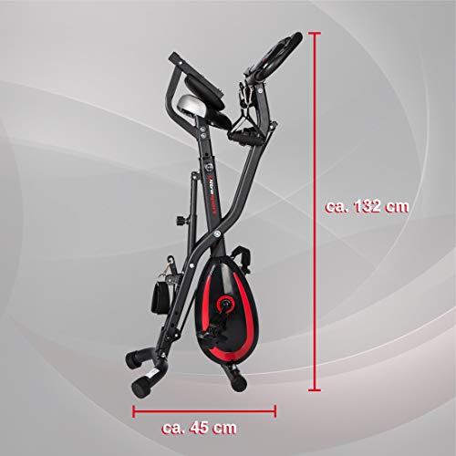 Ultrasport F-Bike 400BS Fahrradtrainer Cross mit Rückenlehne, Zugbandsystem, LC-Display und App, faltbar, matt schwarz - 5