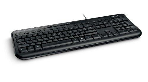 Microsoft 600 Tastatur (Englisch, USB, Microsoft Xbox 360) schwarz (Schwarz Wired Keyboard)