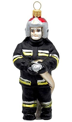 Unbekannt Feuerwehrmann Glas Christbaumschmuck Weihnachten Weihnachtskugel Feuerwehr