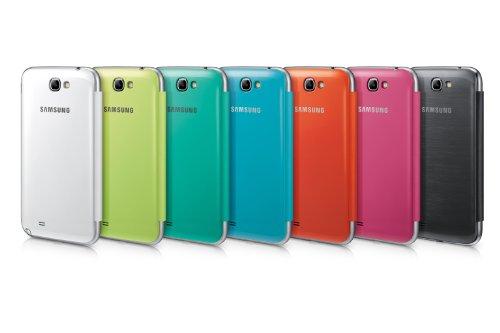 Samsung Original schützende Display-Klappe / Flip-Cover EFC-1J9FBEGSTD (kompatibel mit Galaxy Note 2 / Note 2 LTE) in blue