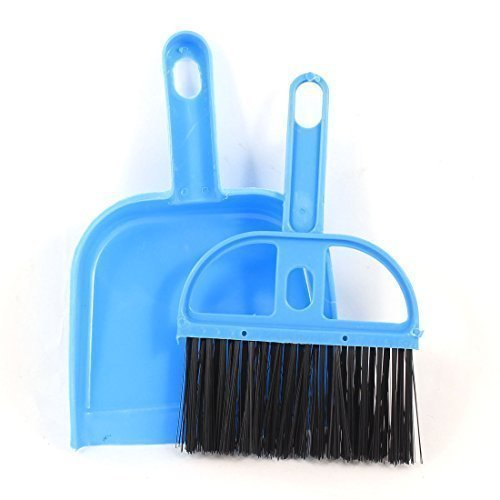 2 in 1 blau schwarz Plastik Handfeger Handbesen mit Kehrblech Kehrgarnitur Set de