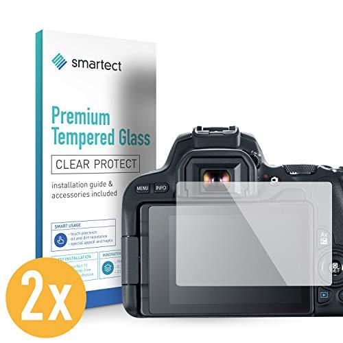 smartect Panzerglas für Canon EOS 200D [2 Stück] - Displayschutz mit 9H Härte - Blasenfreie Schutzfolie - Anti Fingerprint Panzerglasfolie