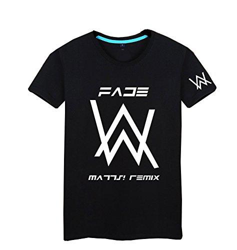Tiny Time Unisex Kurze Hülse Freizeit Mode Reine Baumwolle T-Shirt (S, Schwarz) (Baumwolle - S/s Reine T-shirts)