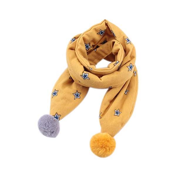 Westeng Cálido Bufanda de Niña Invierno Diseño de Flecos Bufandas de Lindo Fular 1