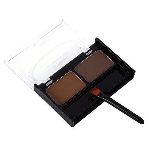 Kit de maquillage de palette de poudre de sourcil imperméable à l'eau avec la brosse(#3)