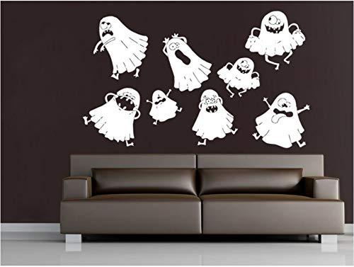 Pbldb Nette Reizende Geist-Halloween-Wand-Abziehbilder Vinyl-Wand-Aufkleber-Ausgangsschlafzimmer-Kreativer Dekor-Glückliches Halloween-Party-Wand-Plakat
