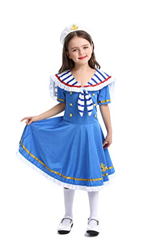 YuStar Kinderkostüme Halloween Cosplay Kinder British Wind Royal Little Navy Brave Matrosenanzug Gr. S, - Royal Vampir Mädchen Kostüm