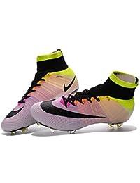 Andrew Zapatos Genérico para hombre Mercurial Superfly FG–Botas de fútbol, hombre, arco iris, 41