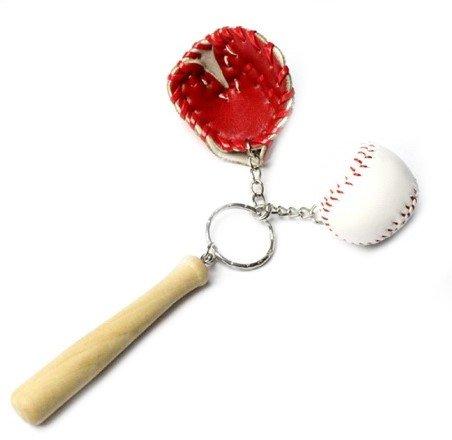 Baseball Ball Handschuh und Schläger Schlüsselanhänger