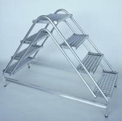 Aluminium-Arbeitspodest beidseitig begehbar, 2 x 4 Stufen Arbeitshöhe bis ca. 3,00 m von Günzburger Steigtechnik - TapetenShop