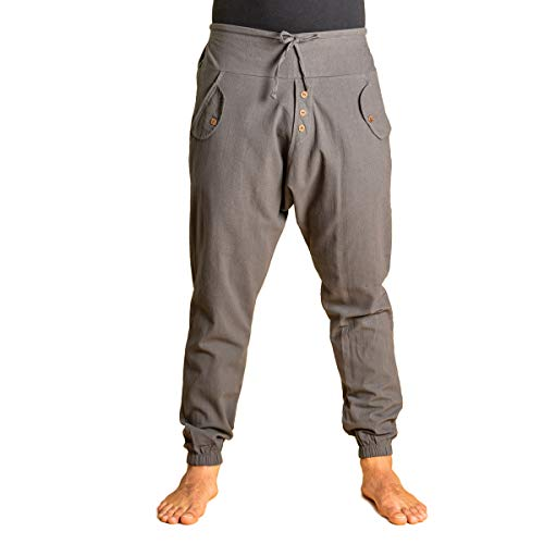 PANASIAM Yogipants, Cotton, Grey, L