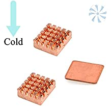 Raspberry Heatsink Copper, Cooling Copper Heat Sinks 3 PCS for Raspberry Pi 2/3 With 3M Special Thermal Cooling Paste