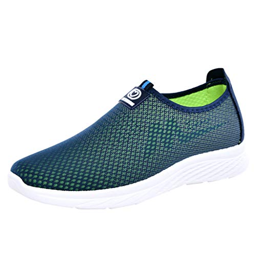 AIni Herren Schuhe Beiläufiges 2019 Neuer Heißer Mode Atmungsaktives Mesh Schlüpfen Loafers Schuhe Sport Laufschuhe Freizeitschuhe Partyschuhe (39,Blau)